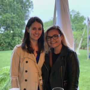 Rachel Emmanuel with Globe reporter Michelle Zilio at the Prime Minister's Media Garden Party at 24 Sussex Drive.